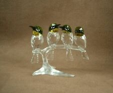 FIGURINE EN CRISTAL DE SWAROVSKI BEE-EATERS BIRD OISEAUX GUEPIERS 1048013