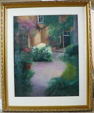 "Original Pastel By Marilee ""Private Garden"" Gifted Artist Beautiful Art 36 X 30"