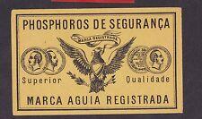Ancienne étiquette  de paquet allumette  Suède BN20184 Oiseau Aigle