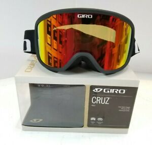Adult Ski Goggles Giro Cruz Snow Medium Frame Black Wordmark AMBER SCARLET