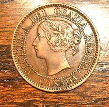 1859 1c Canada Queen Victoria Large Cent Re-engraved Date- BU