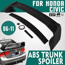 For 06-11 Honda Civic 4Dr Mugen Trunk Spoiler - Unainted Black