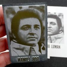 BOB LUMAN Vintage 1960's COUNTRY MUSIC Newspaper Printing Plate PRINTERS BLOCK
