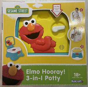 Toddler Potty Chair Sesame Street Elmo 3 in 1 Diapering Learning Activity Seat