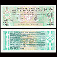 Argentina 1 Austral, 1991, P-S2711 , UNC , Banknotes, Original