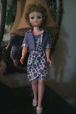 A BEAUTIFUL VINTAGE DOLL WITH COMPLETE WARDROBE