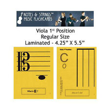 "Viola 1st Pos 4.25""x5.5"" Laminated Music Flashcards"