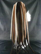 NATURAL BROWN MERINO WOOL ROVING DREADS FALLS STEAMPUNK