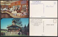 2 Old Postcards - Wilmot, Ohio - Cheese Store, Coffee Shop, Cuckoo Clock