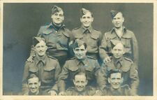 WW2 British Prisoner's Of War POW's  Group Of 9 Soldiers at Stalag XXI D Poland