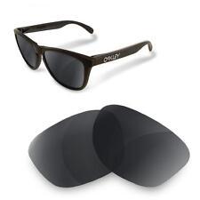 Fit&See Lentes Polarizadas para Oakley Frogskins  COMBO Black + Fire Iridium)