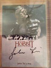 The Hobbit Battle Five Armies Autograph John Tui as Bolg