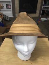 Kangol Genuine Suede Brown Fedora Cap Hat