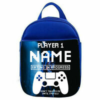 Personalised PS Gamer Lunch Bag Boys School New Kids Children Insulated Bag Gift