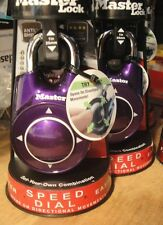 Master lock 1500id Padlock Speed Dial Resettable Combination Directional PURPLE
