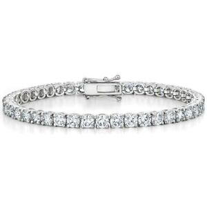5.00 ct  Top Most Quality Platinum Diamond Tennis Bracelet