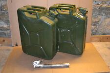 BW 2x Dieselkanister 20 L + Ausgießer (Kraftstoffkanister, Kanister, Bundeswehr)