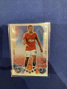 Topps Match Attax 2010/11 Hernandez Manchester Utd Shiny 'Man Of The Match' #M12