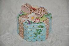 Fitz and Floyd essential Spring Fling Floral lidded trinket box, Octagon shape