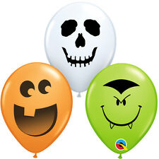 "HALLOWEEN PARTY SUPPLIES BALLOONS 50 x 5"" QUALATEX HALLOWEEN FACE LATEX BALLOONS"