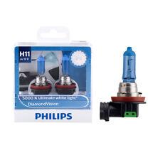 Philips H11 12V 55W DiamondVision 5000K Super White Light Halogen Bulb 12362DVS2