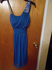 Electric Blue Formal Dress Jewels Size Medium NWT