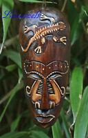 Afrikanische Maske  Motiv Gecko