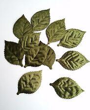Set 20 Padded Rose Flower Leaf Applique Decorating Trim Fabric Crafts  Card