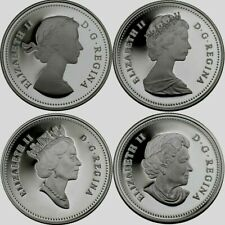 2004 Canada 50 Cent Coin Sterling Silver Queen Elizabeth II Effigy Set