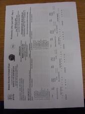 25/04/2007 Cricket Scorecard: Essex v Glamorgan [25-28th April] (folded). Item i