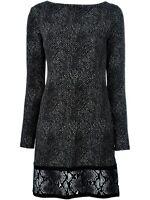 Michael Kors Luxus Kleid/Jerseykleid  Schwarz/Weiß Gr.40 Neu!