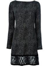 Michael Kors lujo Vestido/vestido Jersey Negro/rojo Gr.36 / unidad de Narcóticos