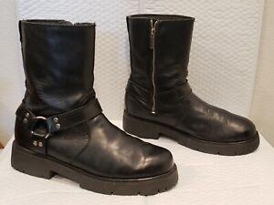 MENS HARLEY DAVIDSON LEATHER BOOTS 10.5  BLACK  #91080 NICE!