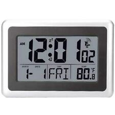Atomic Digital Wall Clock Large LCD Display IN Temperature, Calendar, & Others