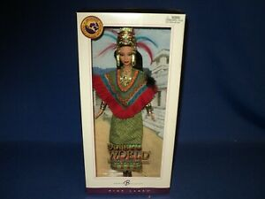 PRINCESS OF ANCIENT MEXICO BARBIE DOLLS OF THE WORLD PINK LABEL 2004 NIB BEAUTIF