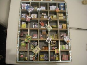 Dolls House food  1/12 Scale     grocery unit and packaging