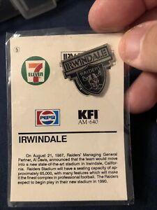 Las Vegas/Los Angeles Raiders.  Irwindale Pin KFI Radio 7-11 Promotion