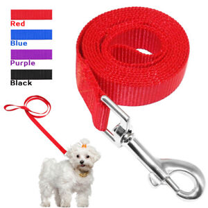 120cm Nylon Dog Lead Rope for Small Dogs Pet Walking Leash Black Red Blue Purple