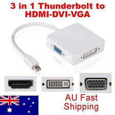 3in1 Thunderbolt Mini DP Display port to HDMI DVI VGA Adapter Cable for MacBook