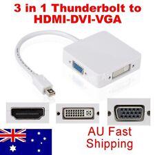 3in1 Mini Displayport to HDMI DVI VGA Adapter Cable for MacBook Pro Thunderbolt