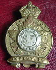 CAP BADGES-CANADIAN SIMCOE FORESTERS 1922-1939 MAZEAS REF M58