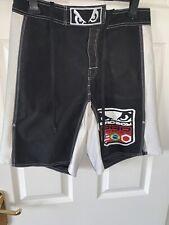 Bad Boy Mma Gym Work Out Black White Shorts Waist 30