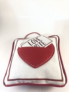 Hanging Love Note Pillow with Envelope Pouch - New