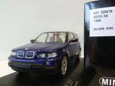 WOW EXTREMELY RARE BMW E53 X5 SUV 4.4i V8 32V 1999 Purple 1:43 Minichamps-M3/GTR