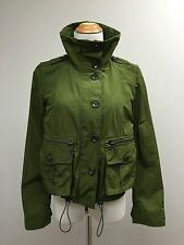 NWT 100% AUTH Burberry Brit Military Olive Jacket 6 $995 NEW