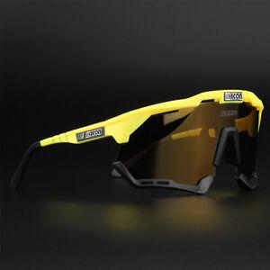 MTB Cycling Glasses Outdoor Sport Mountain Bike Polarized Sunglasses 3 Lens