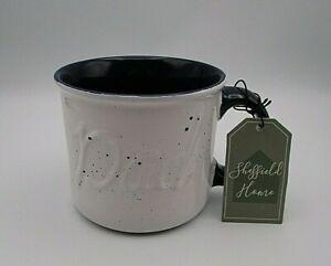 Sheffield Home Wide Dad Coffee Mug White w/Blue Specks Blue Handle&Interior New