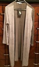 SMALL $198 BRYN WALKER SILVER LONG VISCOSE KIRAN CARDIGAN