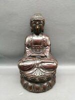 Collectible Tibet Buddhism Temple Bronze Copper Shakyamuni Buddha seat Statue
