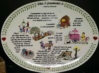 The Original Red Plate Co.Inc. 'What A Grandmother Is' Written By A Third Grader